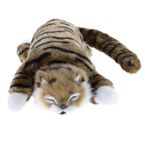 説明: 子供の贈り物のための電気いたずらな転がり猫のおもちゃぬいぐるみ動物発達玩具猫らしいリアルな外...