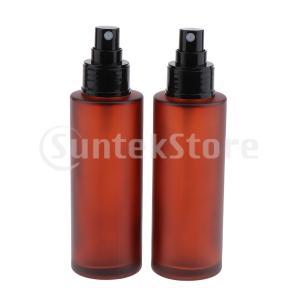 説明:  15/30/60 / 100ML高品位曇りガラス香水瓶、詰め替え式。 黒スプレーで超微細ミ...