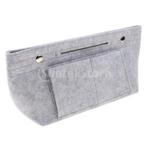 バッグポーチにフェルトインサートバッグオーガナイザー財布ハンドバッグトラベルバッグバッグ