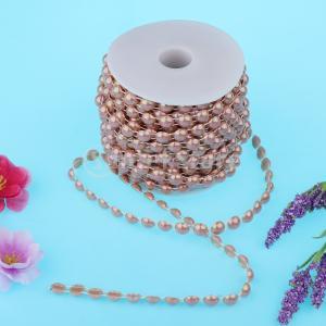 説明: ひも真珠の花輪は、耐久性と丈夫なABS真珠ビーズでできています。 家、結婚式、クリスマス、パ...