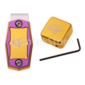 クリップ付き 磁気ビリヤードチョークホルダー プールキュースティックアクセサリー 全6色