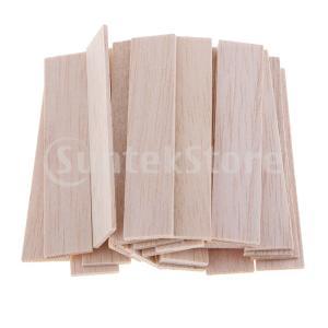 バルサ材 木工フラット スティック スクエア ダボ棒 木製 ウッド 未完成 DIY アクセサリー 全5サイズ|stk-shop