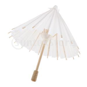 ミニ 白紙傘 オイル紙傘 紙 パラソル 傘 装飾 子供 DIY おもちゃ 全3サイズ