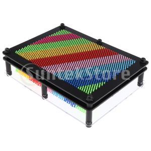 6色 プラスチック製 3Dピンアートボード 立体ピンアート彫刻 手型板 彫刻板 おもちゃ