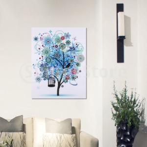 DIY 5D 木の形 ダイヤモンド絵画 刺繍 クロスステッチキット ホーム ルーム 装飾 全3種 stk-shop
