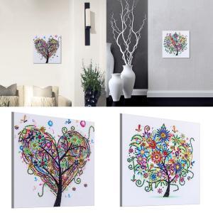 ダイヤモンドアート モザイクアート ダイヤモンドペインティング カラフル 樹木柄 全2種