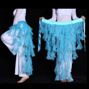 社交ダンス衣装 ベリーダンスヒップスカーフ レッスン用 コイン飾り 不規則 ダンス用品  全5色