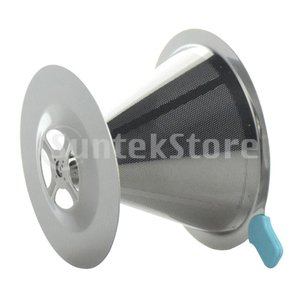 コーヒーフィルター コーヒードリッパー 操作簡単 高品質 ステンレス鋼 全2サイズ