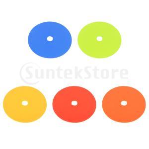 スポットマーカー サッカートレーニング用 フラットフィールドコーン 全5色
