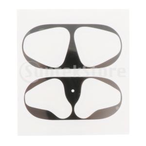 ダストガード 保護ステッカー イヤホンケースシェルスキン メタル Airpods適用 全5色