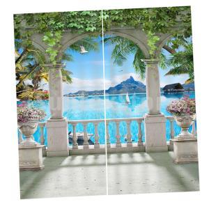 カーテン 遮光カーテン 2枚 3Dデジタルプリント 家庭用 エレガント 全19色