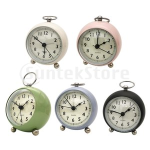 目覚まし時計 アナログ 静音 置き掛け両用 ナイトライト付き クォーツ時計  ベッドサイド 卓上時計|stk-shop