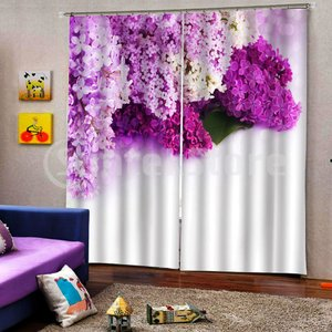 遮光カーテン ポリエステル製 断熱 装飾 窓カーテン 3D印刷 インテリア 2セット 全7色