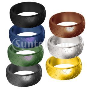 スポーツリング スポーツ指輪 運動指輪 シリコンリング ゴムリング 快適 全6サイズ 7点|stk-shop