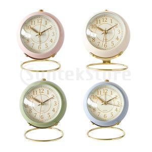 置き時計 アナログ 目覚まし時計 夜間照明付き コンパクト ミニ 読みやすい 全4選択|stk-shop