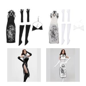 1:6女性フィギュアチャイナドレスストッキングスーツにある12インチ人形ボディドレスアップ