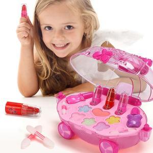 メイクセット メイクアップ 子供 女の子 おもちゃ ままごと キッズ メイクアップセット 化粧品 コスメ 知育玩具 遊ぶキット ネイル 化粧 洗える stk-shop
