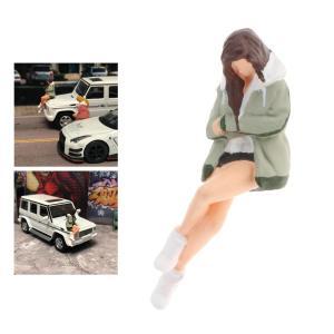 ミニモデルピープルフィギュア.1:64スケール女の子モデル人のおもちゃミニチュア装飾アクセサリー.樹...