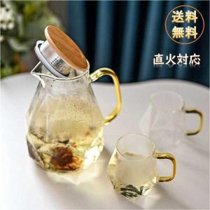ダイヤモンドテクスチャ透明なガラスのティーポットカップカラフェピッチャーw/ハンドル耐熱ホット冷水ためウォータージャグコーヒージュースアイスティー stk-shop