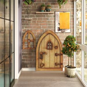 Adroableミニチュア妖精エルフ庭窓クラフトエルフホーム庭アートガーデン彫刻彫像の装飾diy|stk-shop