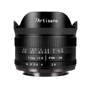 七工匠 7Artisans 7.5mm F2.8 FISH-EYE II ED (フジフイルムXマウント) (ブラック) 魚眼レンズ フィッシュアイ|stkb