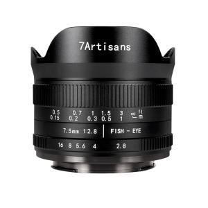 七工匠 7Artisans 7.5mm F2.8 FISH-EYE II ED (キヤノンEF-Mマウント) (ブラック) 魚眼レンズ フィッシュアイ|stkb