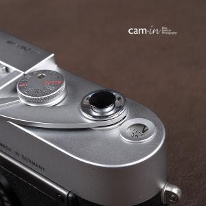 cam-in ソフトシャッターボタン | レリーズボタン 超薄型 凸面 - ライトブラック CAM9003|stkb