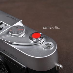 cam-in ソフトシャッターボタン | レリーズボタン 超薄型 凸面 - レッド CAM9004|stkb
