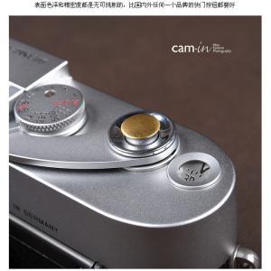 cam-in ソフトシャッターボタン | レリーズボタン 超薄型 凸面 - 真鍮色 CAM9008|stkb