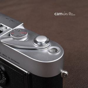 cam-in ソフトシャッターボタン | レリーズボタン オリジナル 凸面 - シルバー CAM9011|stkb