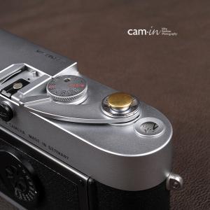 cam-in ソフトシャッターボタン | レリーズボタン オリジナル 凸面 - 真鍮色 CAM9014|stkb