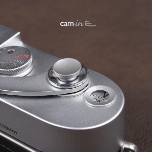 cam-in ソフトシャッターボタン | レリーズボタン オリジナル 凹面 - スチールグレー CAM9018|stkb