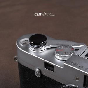 cam-in ソフトシャッターボタン | レリーズボタン ビッグ 凹面 - ライトブラック CAM9031|stkb