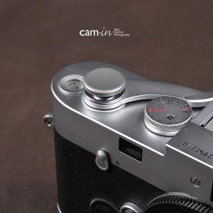 cam-in ソフトシャッターボタン | レリーズボタン ビッグ 凹面 - スチールグレー CAM9033|stkb