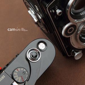 cam-in ソフトシャッターボタン | レリーズボタン MINI 凸面 - ライトブラック CAM9060|stkb