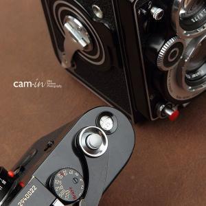 cam-in ソフトシャッターボタン | レリーズボタン MINI 凸面 - スチールグレー CAM9062|stkb