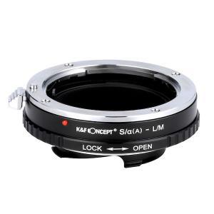 K&F Concept レンズマウントアダプター KF-AAM (ソニー(ミノルタ)Aマウントレンズ → ライカMマウント変換) 絞りリング付き stkb