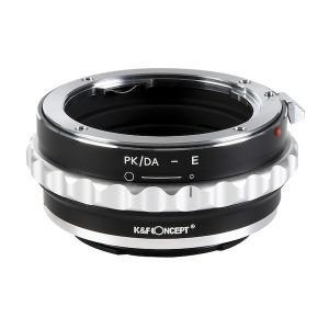 K&F Concept レンズマウントアダプター KF-DAE (ペンタックスKマウント(DAレンズ対応)レンズ → ソニーEマウント変換) 絞りリング付き|stkb
