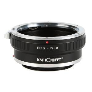 K&F Concept レンズマウントアダプター KF-EFE-T (キャノンEFマウントレンズ → ソニーEマウント変換)三脚座付き|stkb