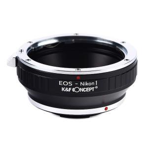 K&F Concept レンズマウントアダプター KF-EFN1 (キャノンEFマウントレンズ → ニコン1マウント変換) stkb