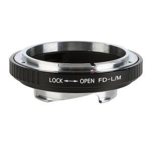 K&F Concept レンズマウントアダプター KF-FDM (キャノンFDマウントレンズ → ライカMマウント変換)絞りリング付き stkb