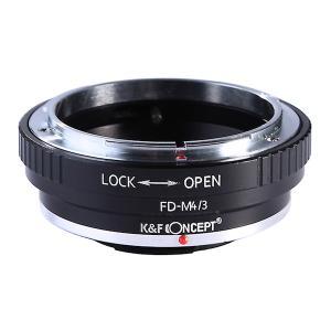 K&F Concept レンズマウントアダプター KF-FDM43  (キャノンFDマウントレンズ → マイクロフォーサーズマウント変換)絞りリング付き|stkb