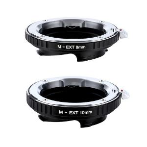 K&F Concept レンズマウントアダプター KF-MM8/10 (ライカMマウント接写リングセット) 8mm / 10mm stkb