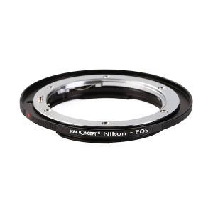 K&F Concept レンズマウントアダプター KF-NFEF-E (ニコンFマウントレンズ → キャノンEFマウント変換)電子接点付き|stkb