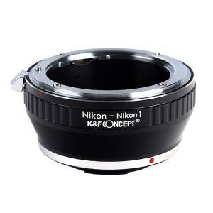 K&F Concept レンズマウントアダプター KF-NFN1 (ニコンFマウントレンズ → ニコン1マウント変換) stkb