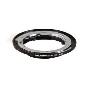 K&F Concept レンズマウントアダプター KF-NGEF-E (ニコンFマウント(Gタイプ対応)マウントレンズ → キャノンEFマウント変換)絞りレバー、電子接点付き|stkb