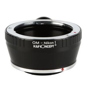 K&F Concept レンズマウントアダプター KF-OMN1-T (オリンパスOMマウントレンズ → ニコン1マウント変換)三脚座付き stkb
