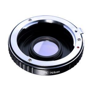 K&F Concept レンズマウントアダプター KF-PKF (ペンタックスKマウントレンズ → ニコンFマウント変換)無限遠補正レンズ付き|stkb