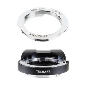 TECHART LM-EA7 + K&F Concept KF-LM-2890|ライカLレンズ28/90mm用マウントアダプターセット|stkb