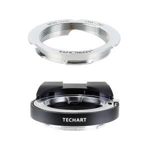 TECHART LM-EA7 + K&F Concept KF-LM-5075|ライカLレンズ50/75mm用マウントアダプターセット|stkb